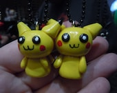 Pikachu Necklace, Pokemon Pendant, Gamer Jewelry, Video Game