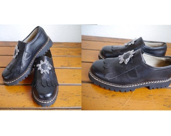 Loafer Shoes sturdy Leather Half shoes Austrian fashion Made in Austria EU 37 / US 6 / UK 4