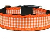 """Fall Dog Collar 1.5"""" Orange Dog Collar SIZE LARGE"""