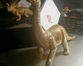 Dinosaur Business Card Holder in Gold