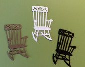 Handmade, 3 Cute Rocking Chairs, White, Brown, Black, Retirement Card, Cards, Die Cuts, Scrapbooking, Sizzix