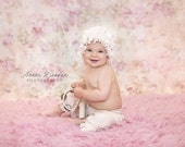 Ruffle Hat and Bloomer Set in Ivory