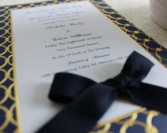 The Regal Invitation/Menu 100