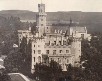 2 Czech Castle Photo Postcards Vintage 1940