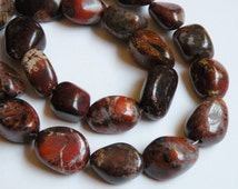 Natural Brecciated Jasper gemstone extra large nugget beads 16x13mm to 22x15mm 5903GS