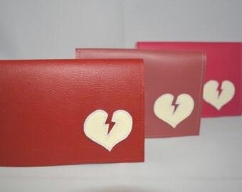 Vinyl Billfold Wallet With Lightning Bolt Heart