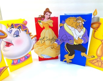 Inspired Princess Belle Party Favor Bags Full body