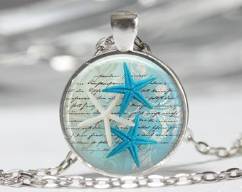 Starfish Necklace Ocean Starfish Jewelry Nautical Necklace