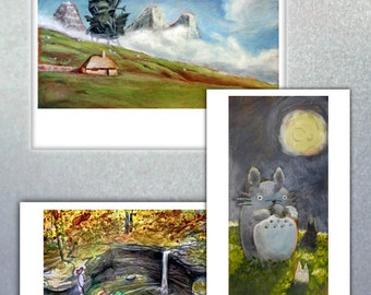 BitBrush Bundle - Pick 3 - | VideoGame Paintings Pikachu Art Nintendo Prints