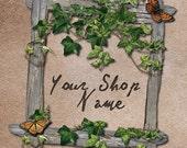 Basic Custom Etsy Shop Banner Set (Pre-made) - Woodland Frame