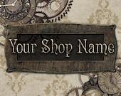 Basic Custom Etsy Shop Banner Set (Pre-made) - Steampunk 2