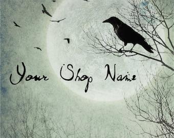 Custom Etsy Shop Banner Set (Pre-made) - Raven