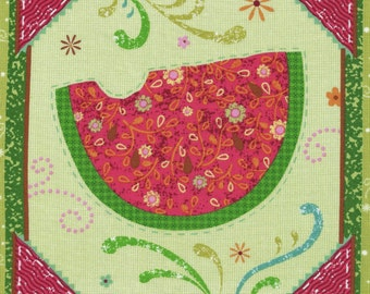 Watermelon/Fruit Cotton Fabric Panel