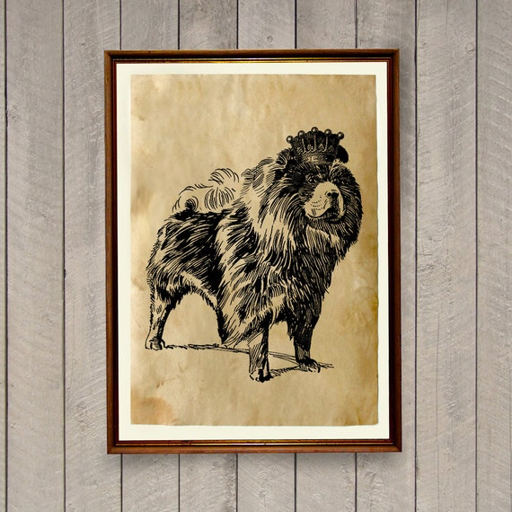 Dog Poster Rustic Home Decor Animal Art Print Ak436