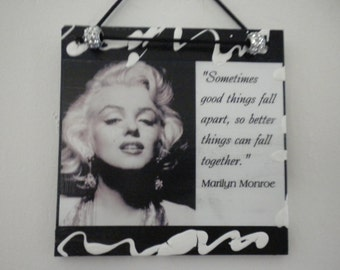 Marilyn Monroe Quote Wall Plaque