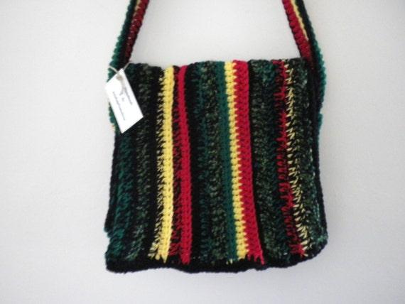 Bob Marly Rasta Hobo Messenger Bag Crossbody Hobo Bag