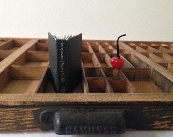 Hamilton vintage wooden letterpress drawer