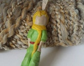 The Little Prince, polymer clay handled crochet hook 3.25 mm