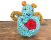 Becca Cook - Geraldine Bug, miniature crochet amigurumi toy doll.