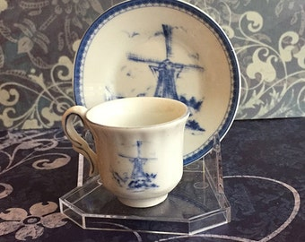 Vintage Windmill Child Miniture Tea Cup and Saucer by Imperial Porcelain
