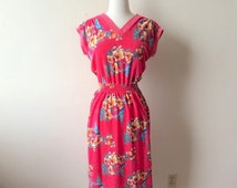 Vintage Pink Hawaiian Cover-Up Dress