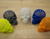 Voronoi 3D Printed Skull Decoration