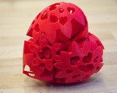 Lots of Love Heart Gear 3D Printed Valentine's Wedding Anniversary Gift