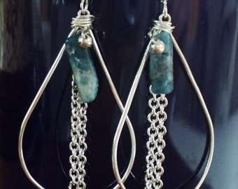 Teardrop Apatite Earrings