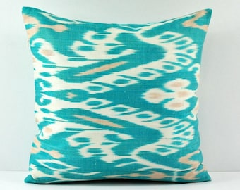 Ikat Pillow, Hand Woven Ikat Pillow Cover  a551-18, Ikat throw pillows, Designer pillows, Decorative pillows, Accent pillows