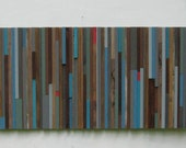 Sale!Abstract painting on Wood,Sculpture, Wood  Wall Art,Reclaimed Wood Modern wall art,Painting, Barn boards,