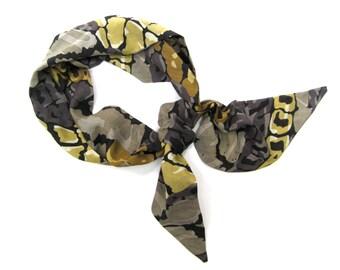 Hair Wrap, Hair Scarf, Purse Scarf, Women Gift, Boho Hair Scarf, Gift for Teen, Hat Scarf, Alligator Print, Under 20 Dollars, Ready to Ship