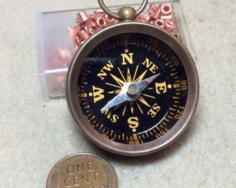 Free US Shipping steampunk real working compass