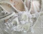 Wedding Lasso,  Lazo for Wedding /  White cord  Lazo/ Lazo    para boda / Bridal Lazo /mancuernas para boda, Narelo