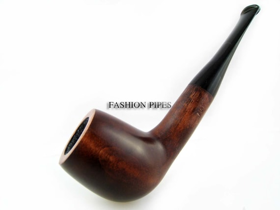 """SET - """"POT""""  Wooden Pipe + Leather Holder, Tobacco Smoking Pipe/Pipes 5.5 inches Wood Pipe Handmade. Limited edition.....LOWEST Price......"""