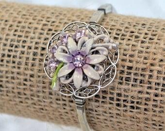 Repurposed Wrist Watch Corsage Bracelet