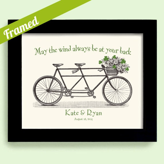 Unique Wedding Gifts Ireland : Irish Wedding Gift Unique Engagement Gift Shamrock Art Framed Gift for ...