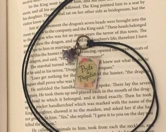 Pride and Prejudice Book Charm Pendant Necklace Jane Austen