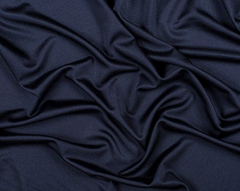 "54"" Wide 100% Silk Knit Jersey Navy Blue by the yard"