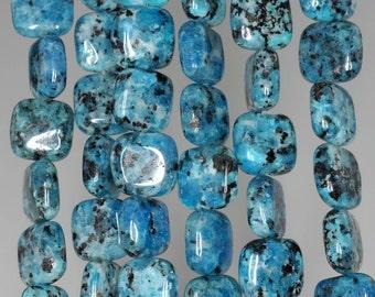 8mm Blue Sesame Jasper Gemstone Square Loose Beads 16 inch Full Strand (90185770-847)