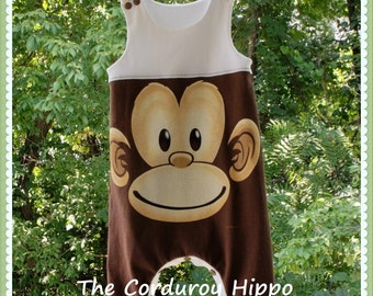 CLEARANCE - 12-18mo Upcycle Harem Romper, Jersey Knit Romper, Gender Neutral Baby Clothes, Toddler Clothing, made by The Corduroy Hippo