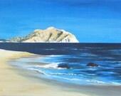 Alone - Beach Landscape - Ocean Art