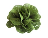 Moss Green Eyelet Flower. 1 pc. JESSAMY Collection