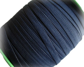 "1/4""  Navy Blue Elastic. Narrow Navy Elastic- 5 Yds"