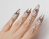 Vampire claws -  lady gaga - the countess - set of 5