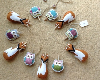 Fox and Owl Bunting/Garland