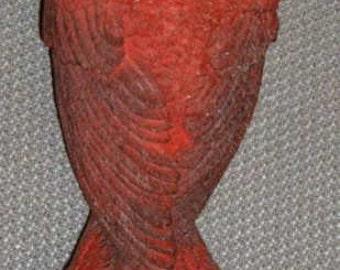 40% Off, Vintage, Bird Feeder, Red Bird, Cardinal, Resin Bird Feeder, Yard   Decor,
