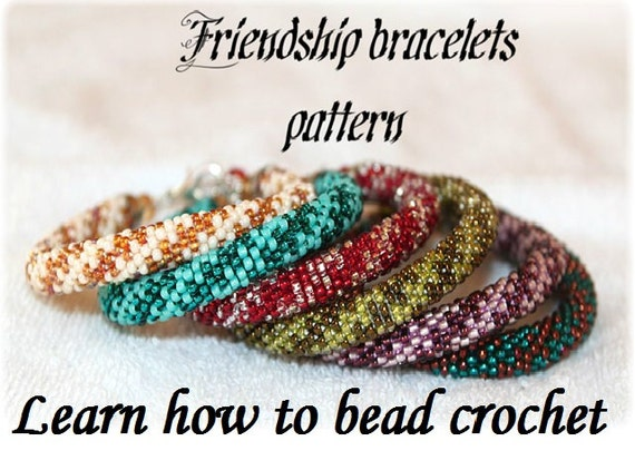 ... CROCHET with simple pattern of a bracelet or a necklace step by step