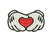 Mickey Mouse Hands Embroidery, Mickey Mouse, Embroidery Designs, Embroidery Applique, (246) Instant Download