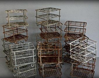 vintage test tube rack, rusty wire, crusty wire, laboratory rack, scissors rack