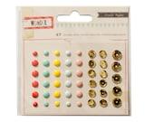 Crate Paper Wonder -  Enamel Dots and Sequins -- MSRP 4.00